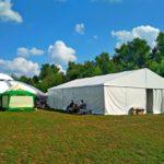 Тент «Мультіфлекс» площею 150 кв.м. задіяли для підготовки артистів