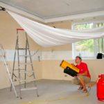 Використання газової гармати для монтажу натяжної стелі