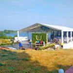 Оренда тенту для весілля на березі Дніпра