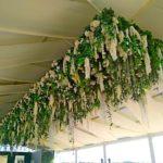 Декорування тенту квітами
