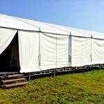 Установка тенту під гримерки на фестивалі Zaxidfest