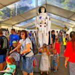 В тенте «Мультифлекс» расположилась космическая экспозиция «Kids on the Moon»