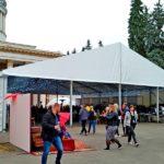 Оренда тенту «Уніфлекс» 20х20 метрів для фестивалю Silpo Wine Fest