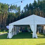 Подготовка шатра на 200 человек для свадьбы