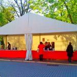 Для книжного фестиваля мы установили тенты «Миди» на 120 кв. м.
