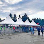 Тенты «Пагода» защищали гостей на входе «Atlas Weekend»