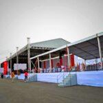 Аренда шатров для торжественного открытия завода «Биофарма»