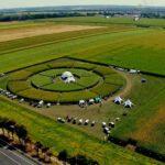 Тенты на опытном поле агрокомпании «Euralis»