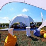 Основные презентации «Euralis» проходили в тенте «Орбит» 10х10 м