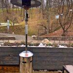 Витончені газові обігрівачі «Грибок» відмінно вписуються в інтер'єр тераси ресторану