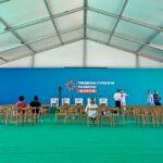 Для форума «Южная стратегия развития» мы установили 1200 кв. м. тентов и шатров