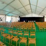 Основные доклады форума проходили в шатре «Ультра» 20х30 метров