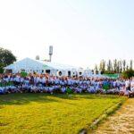 Главные встречи в лагере «Зе!Кемп» проходили в тенте «Ультра» 20х30 метров